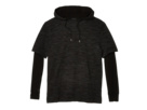 Black The Hoodie Kooples with Sweatshirt Detailing Zip 5zqZvzxr