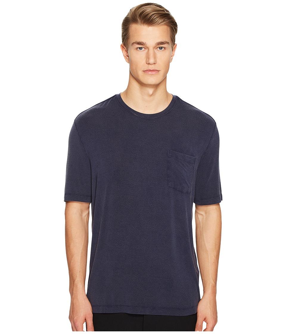 ATM Anthony Thomas Melillo - Sun Bleached Crew Neck Pocket Tee (Midnight) Men's T Shirt