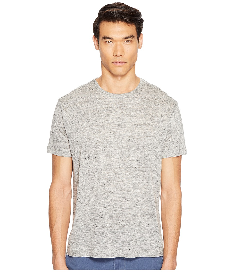 ATM Anthony Thomas Melillo - Linen Relaxed Fit Crew Neck Tee (Heather Grey) Men's T Shirt