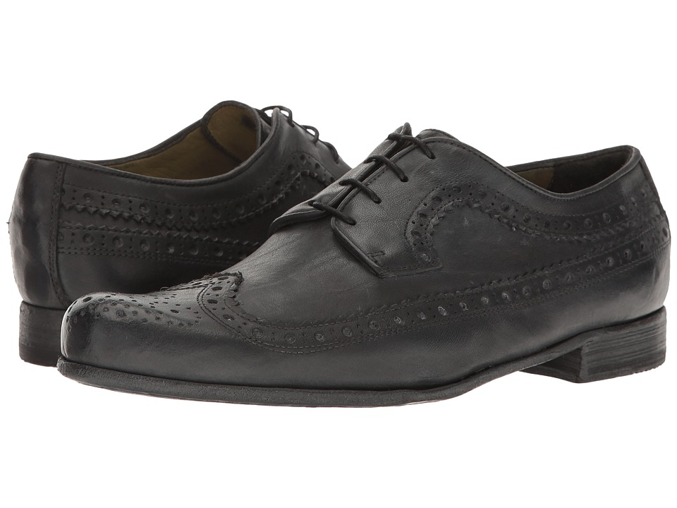 Billy Reid - Buzz Wingtip Oxford (Charcoal) Men's Shoes