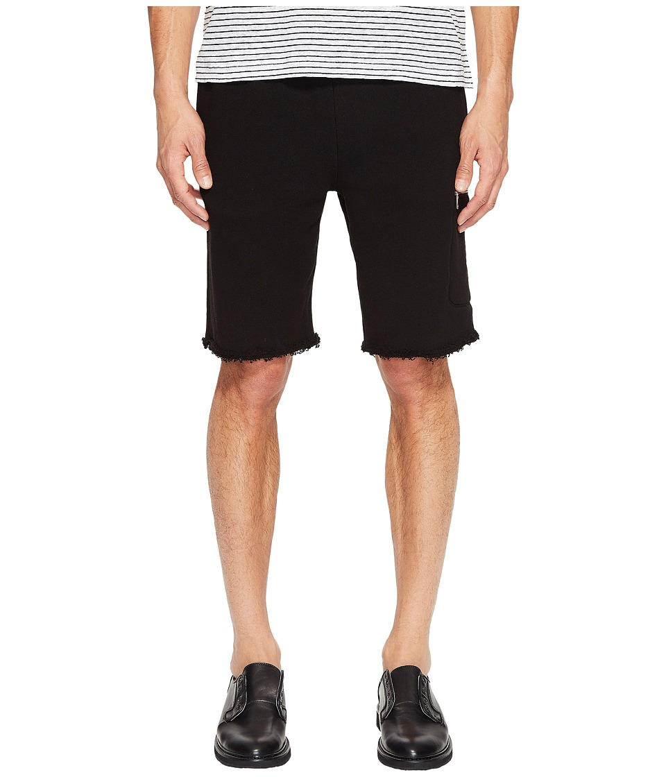 ATM Anthony Thomas Melillo - French Terry Cargo Zip Pocket Shorts (Black) Men's Shorts