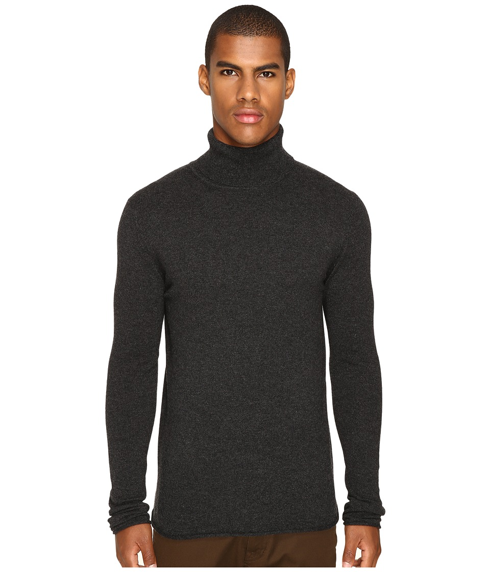Billy Reid - Fine Turtleneck (Charcoal) Men's Sweater