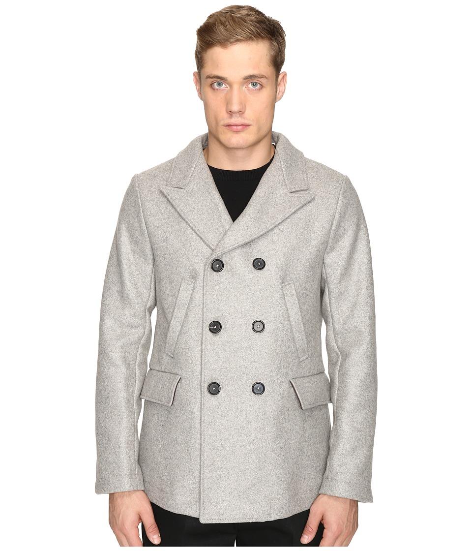 Billy Reid - Bond Peacoat (Grey) Men's Coat