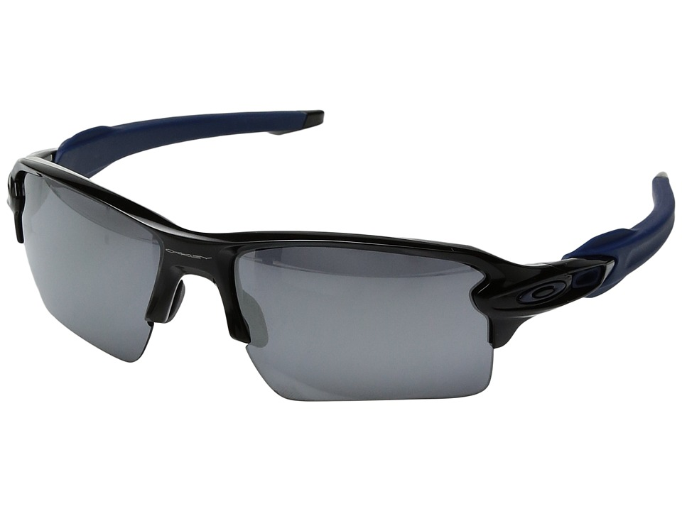 Oakley - Flak 2.0 XL (Polished Black/Navy/Black Iridium) Sport Sunglasses