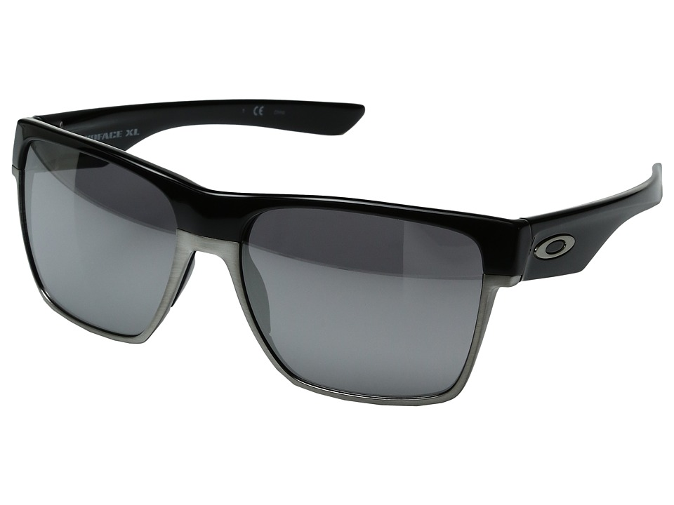 Oakley - Two Face XL (Polished Black/Chrome Iridium) Fashion Sunglasses
