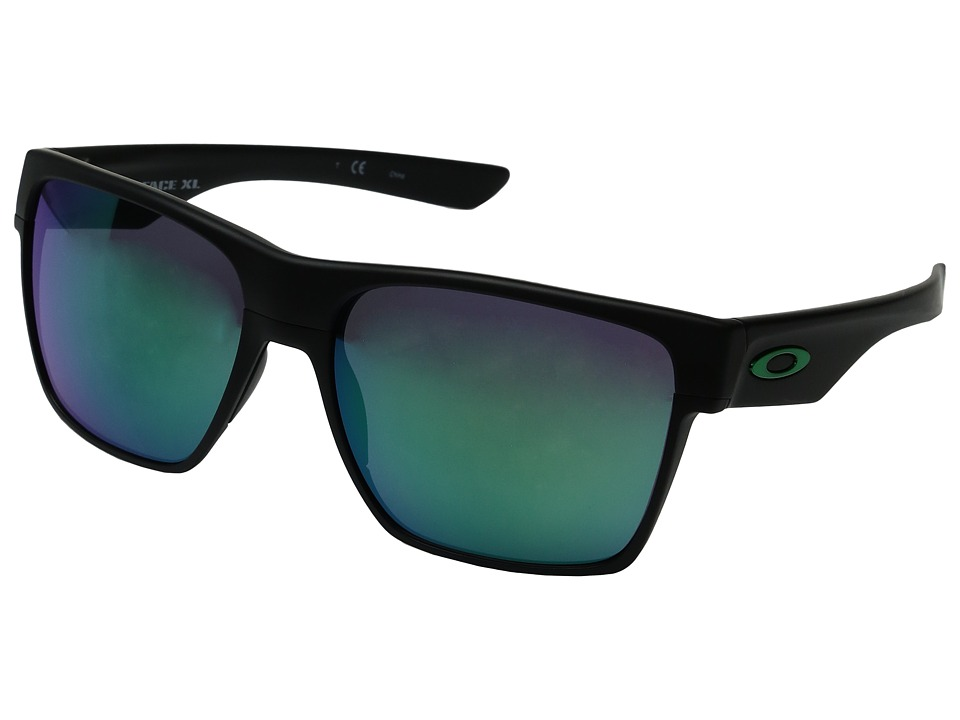 Oakley - Two Face XL (Matte Black/Jade Iridium) Fashion Sunglasses