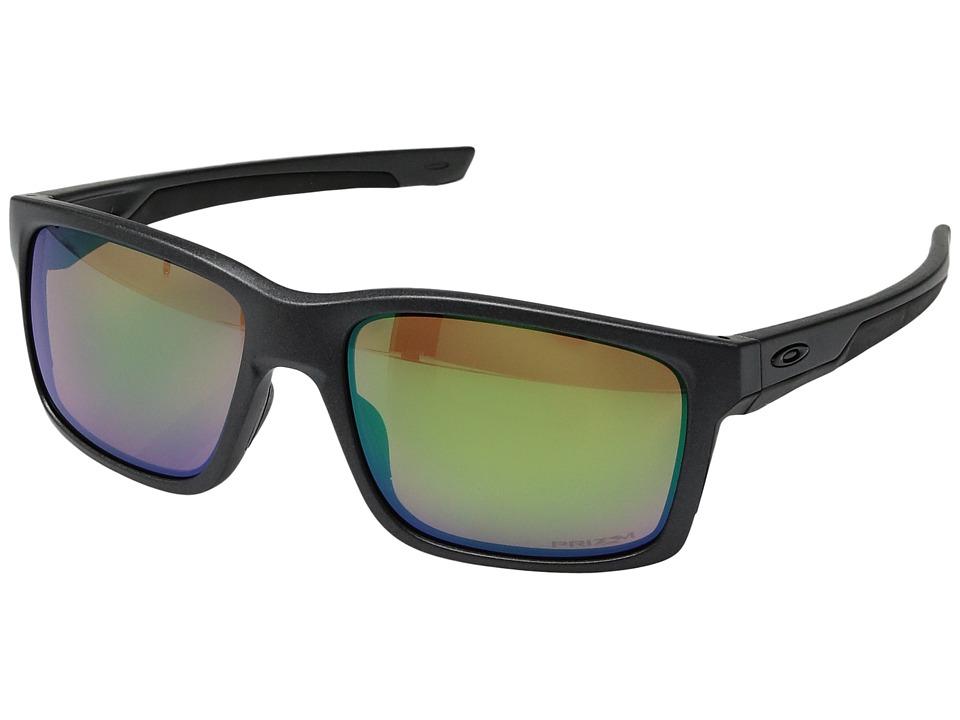 Oakley - Mainlink (Steel/Prizm Shallow Water Polarized) Plastic Frame Fashion Sunglasses