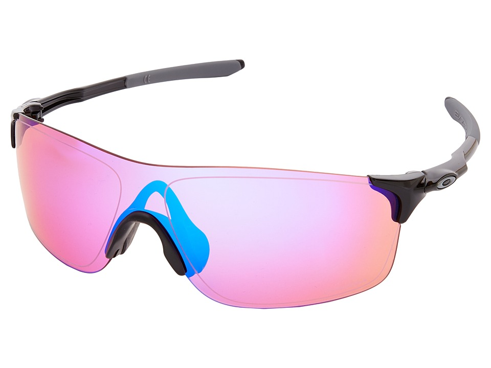 Oakley - EVZero Pitch (Polished Black/Prizm Trail) Fashion Sunglasses