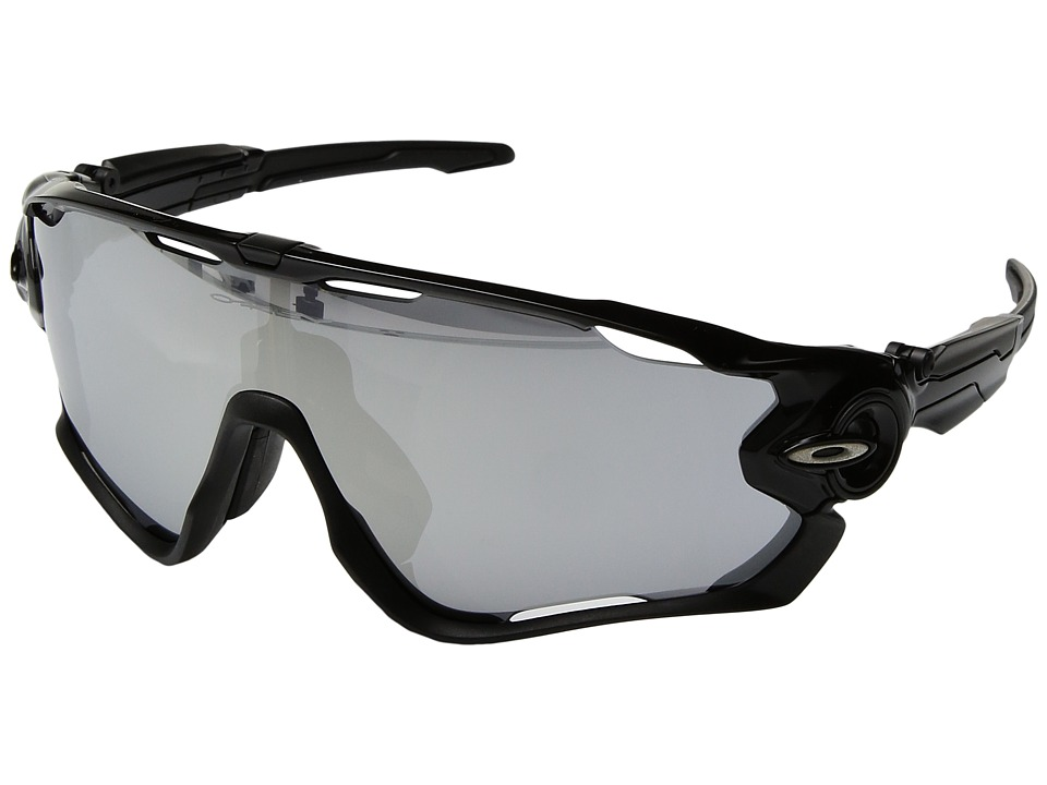 Oakley - Jawbreaker Halo Collection (Asia Fit) (Polished Black/Chrome Iridium) Sport Sunglasses