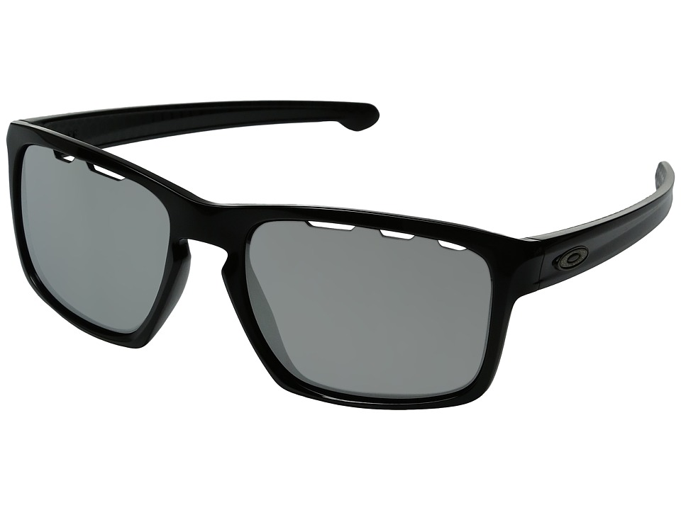 Oakley - Sliver (Polished Black/Chrome Iridium Vented) Fashion Sunglasses