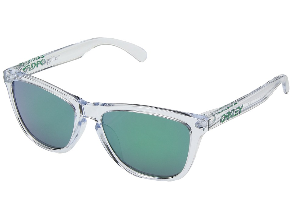 Oakley - Frogskins Polarized (Asia Fit) (Crystal Clear/Jade Iridium) Fashion Sunglasses