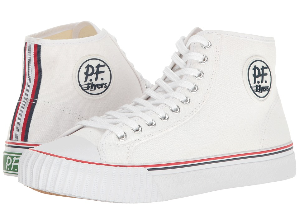 PF Flyers - Center Hi (White) Men's Shoes