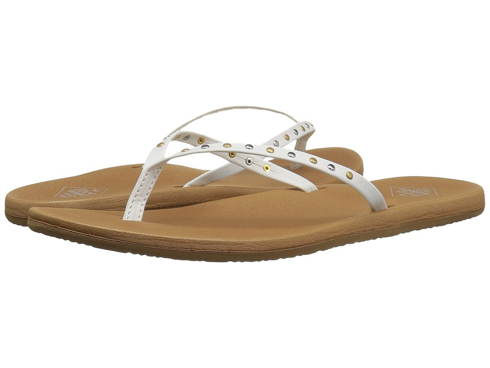 Freewaters - Nikki Stud (White/Tan) Women's Shoes