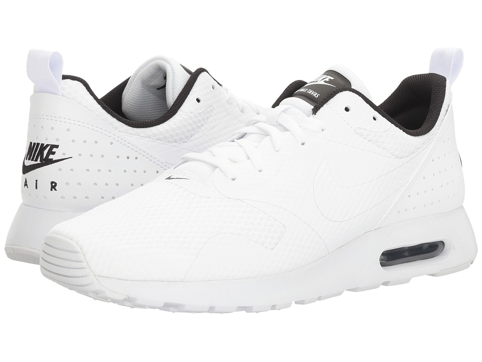 Nike - Air Max Tavas (White/White/Black) Men's Shoes