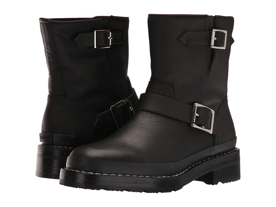 Hunter Original Leather Biker Boot (Black) Women
