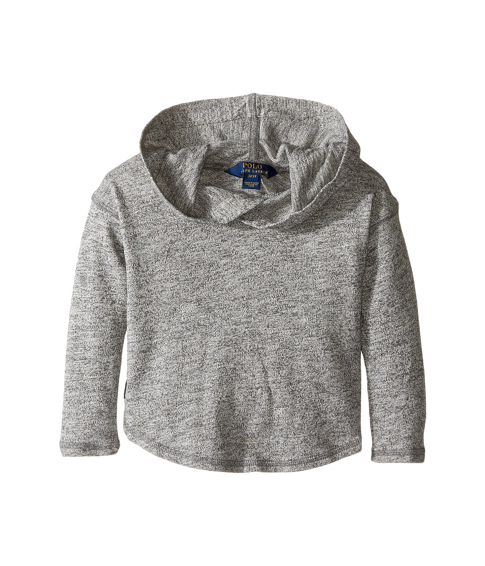 Polo Ralph Lauren Kids - Long Sleeve Hooded Pullover Top (Toddler) (Pepper Heather) Girl's Sweatshirt