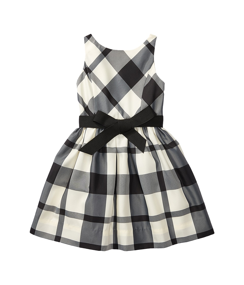 Polo Ralph Lauren Kids - Poly Taffeta Plaid Woven Dress (Little Kids) (Cream/Black) Girl's Dress