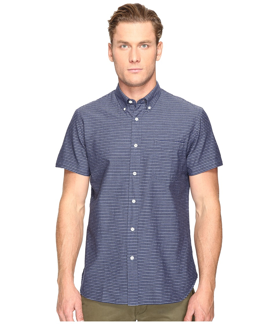 Billy Reid - Short Sleeve Tuscumbia Shirt (Indigo) Men's Clothing