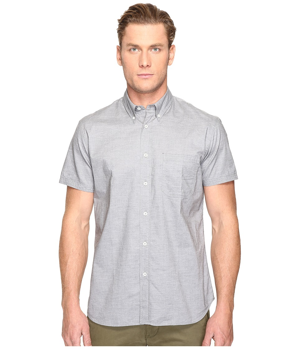 Billy Reid - Short Sleeve Tuscumbia Button Down Shirt (Grey) Men's Clothing
