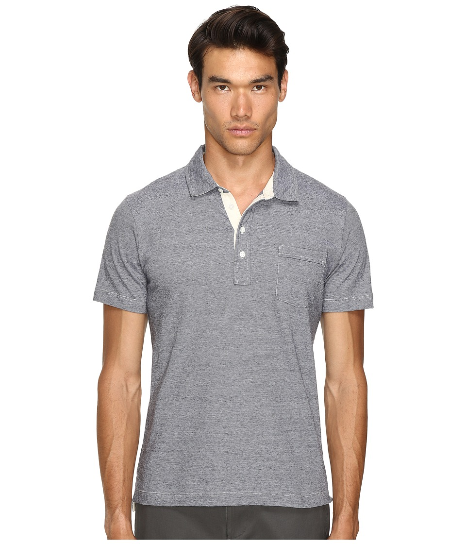 Billy Reid - End-On-End Pensacola Polo (Charcoal/Heather) Men's Clothing