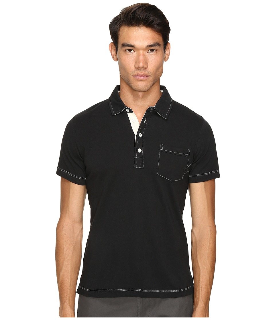 Billy Reid - Pensacola Polo (Black) Men's Clothing