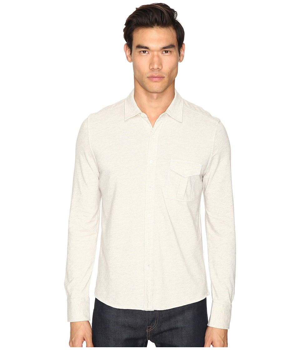Billy Reid - Combo Pique Button Down (Light Heather Grey) Men's Clothing