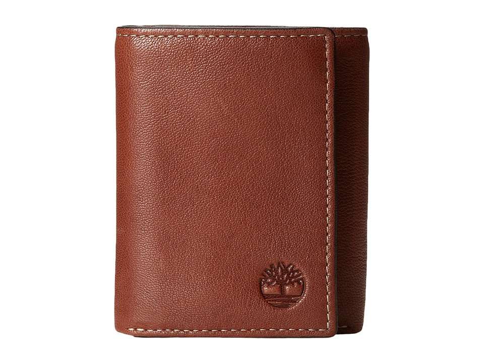 Timberland - Cavalieri Leather Trifold Wallet (Brown) Wallet Handbags