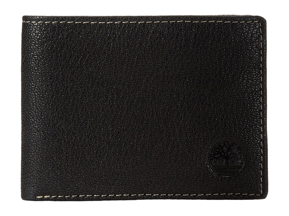Timberland - Cavalieri Leather Slimfold Wallet (Black) Wallet Handbags