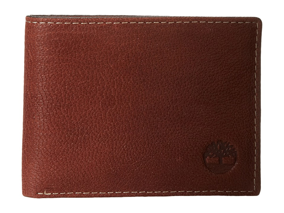 Timberland - Cavalieri Leather Slimfold Wallet (Brown) Wallet Handbags