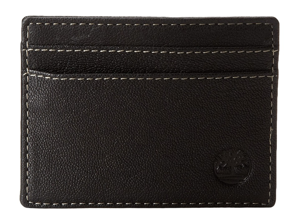 Timberland - Cavalieri Leather Card Carrier (Black) Credit card Wallet