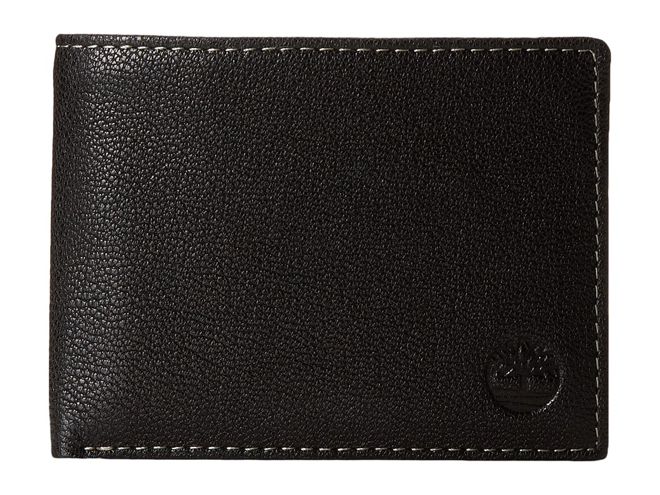 Timberland - Cavalieri Leather Passcase Wallet (Black) Wallet Handbags