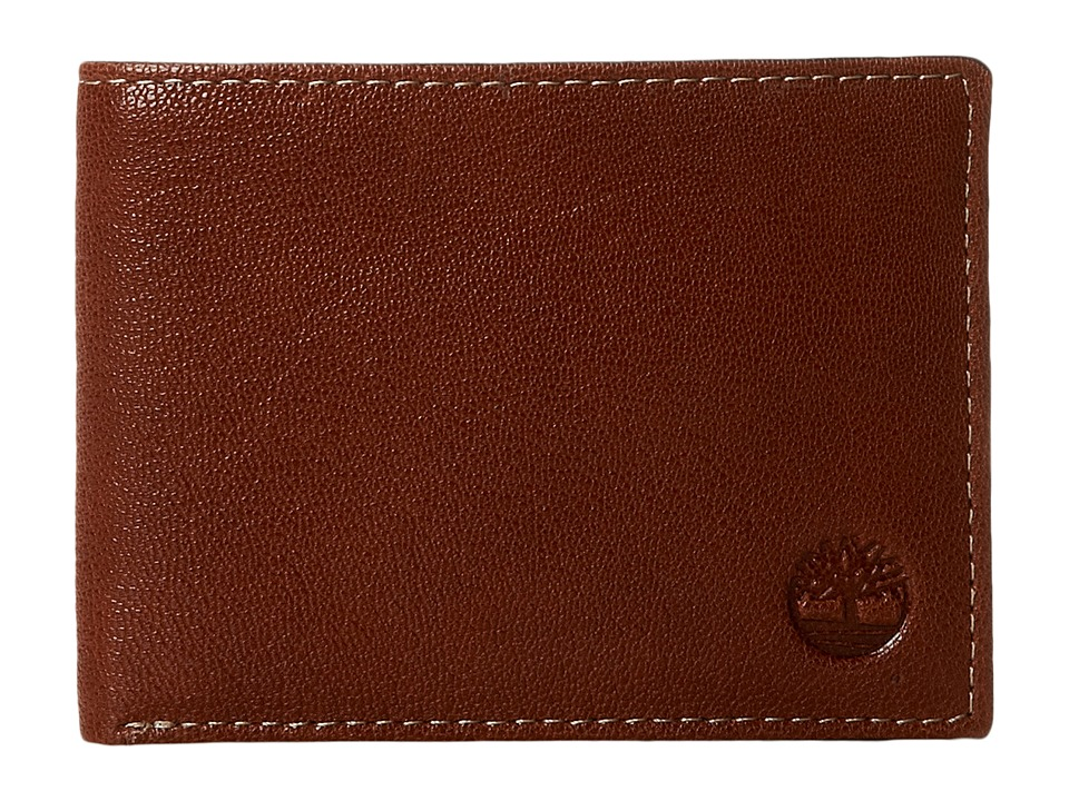 Timberland - Cavalieri Leather Passcase Wallet (Brown) Wallet Handbags