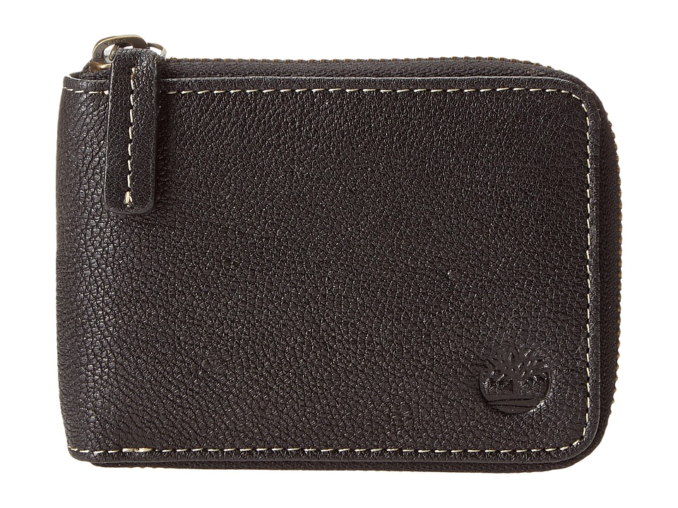 Timberland - Cavalieri Leather Zip Around Wallet (Black) Wallet Handbags