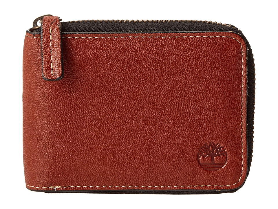 Timberland - Cavalieri Leather Zip Around Wallet (Brown) Wallet Handbags