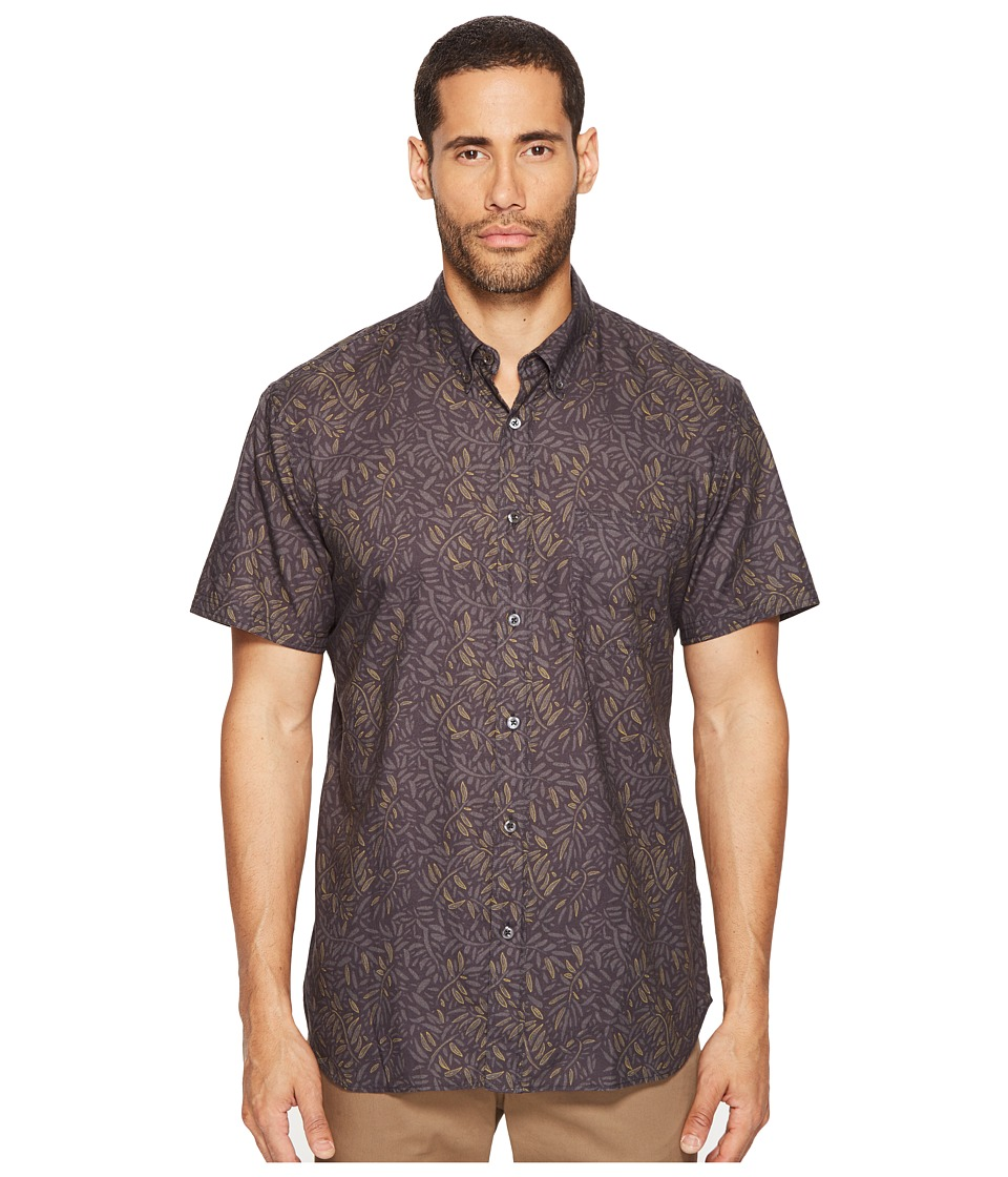 Billy Reid - Short Sleeve Tuscumbia Shirt (Charcoal) Men's Clothing