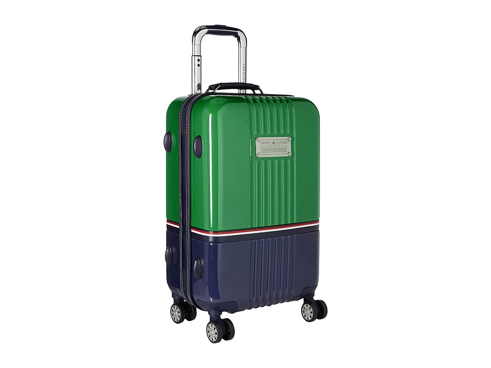 Tommy Hilfiger - Duo Chrome 21 Upright Suitcase (Green/Navy) Luggage