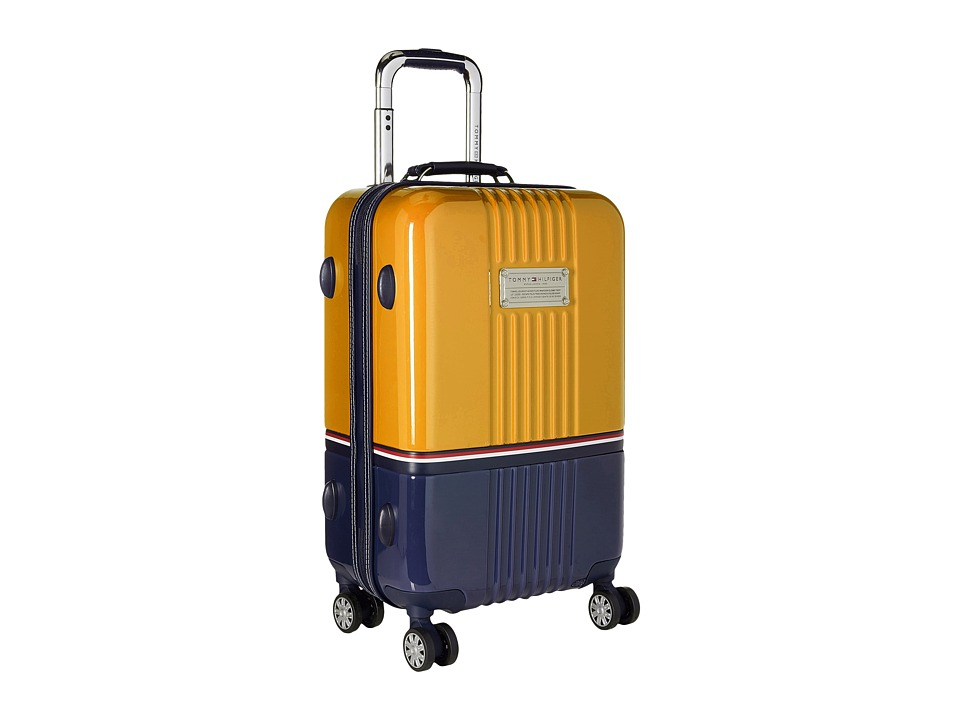 Tommy Hilfiger - Duo Chrome 21 Upright Suitcase (Yellow/Navy) Luggage