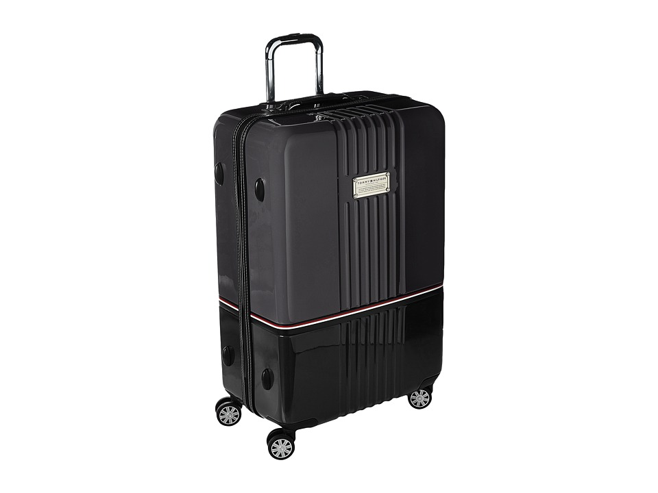 Tommy Hilfiger - Duo Chrome 28 Upright Suitcase (Gray/Black) Luggage