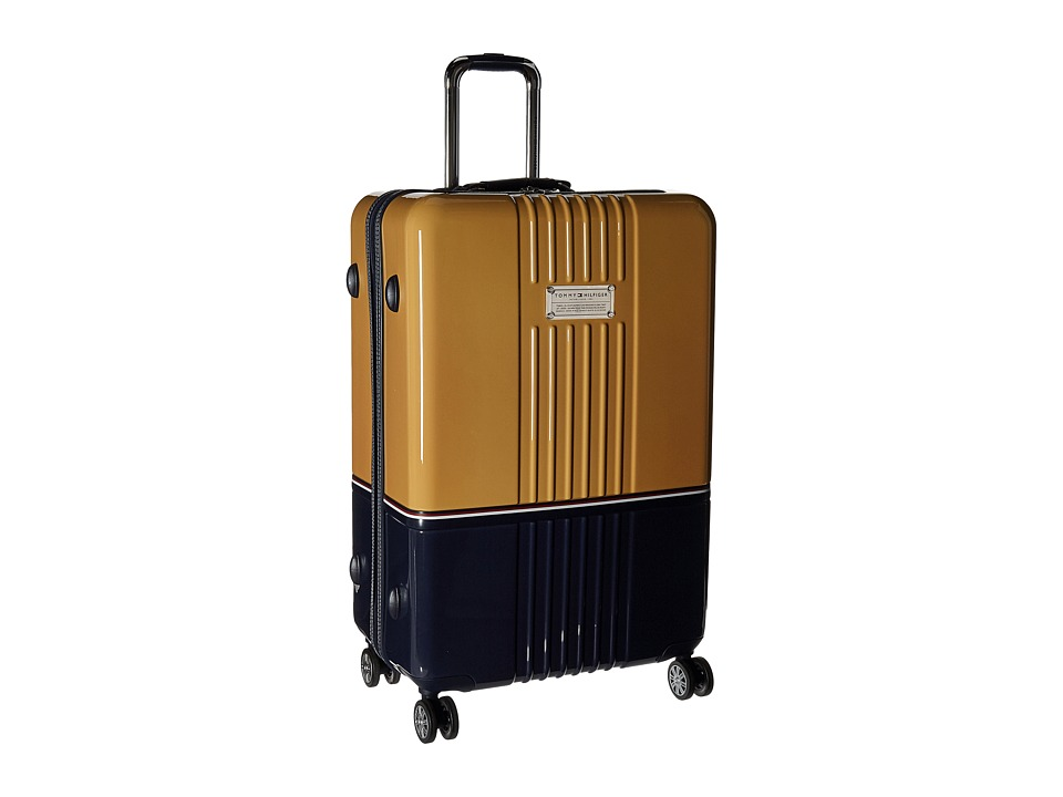 Tommy Hilfiger - Duo Chrome 28 Upright Suitcase (Yellow/Navy) Luggage