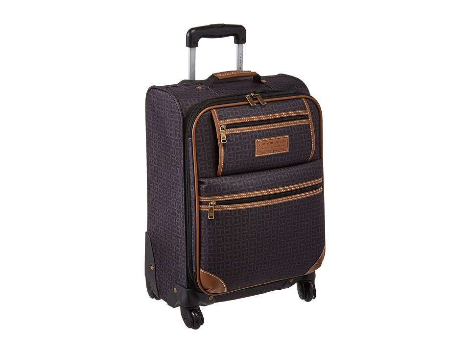 Tommy Hilfiger - Signature 2.0 21 Uptright Suitcase (Black) Luggage