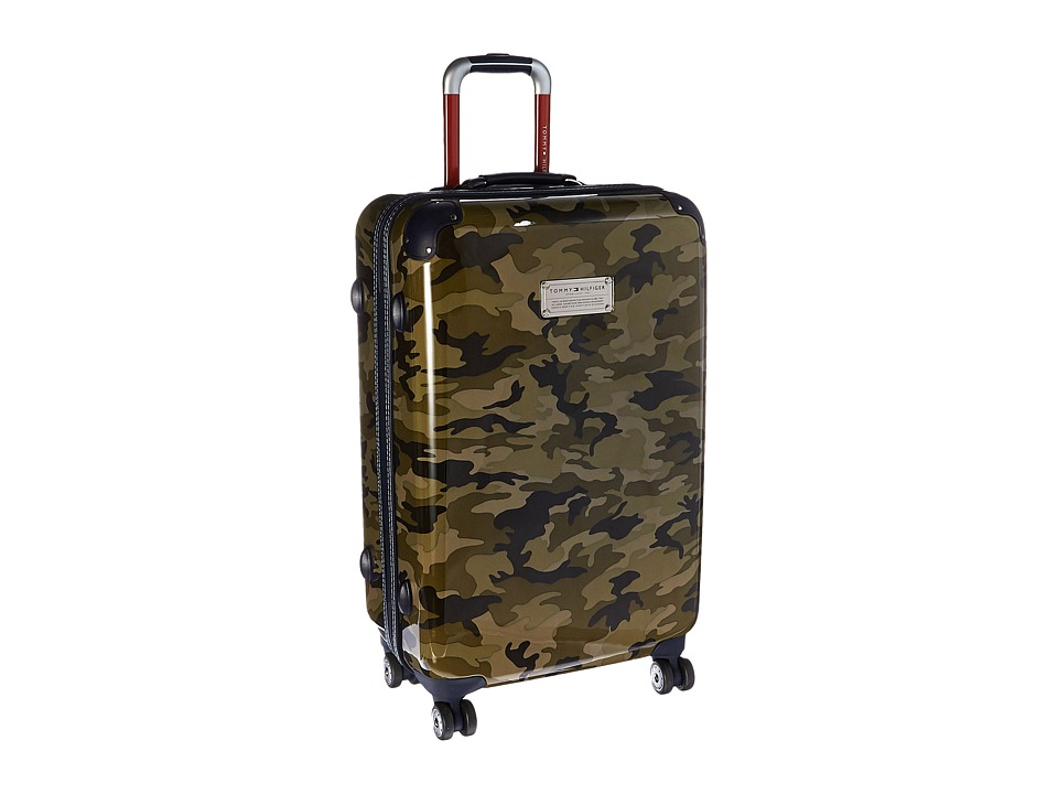 Tommy Hilfiger - East Coast Camo 24 Upright Suitcase (Olive) Luggage