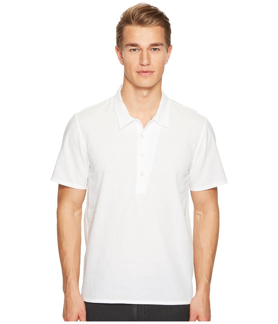 Billy Reid - Mickey Short Sleeve Pullover Shirt (White) Men's Clothing