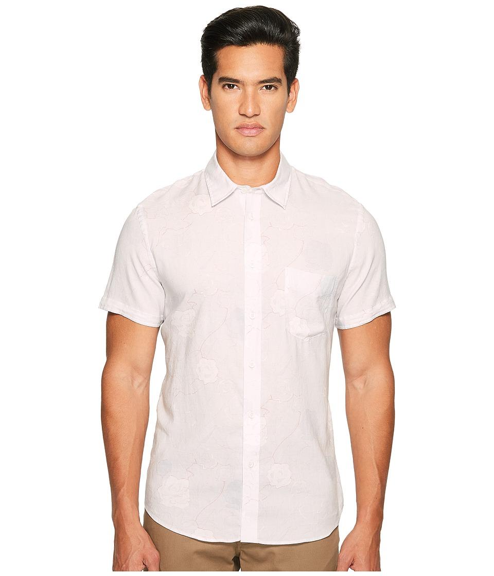 Billy Reid - Short Sleeve Kirby Shirt (Grey/Red) Men's Clothing