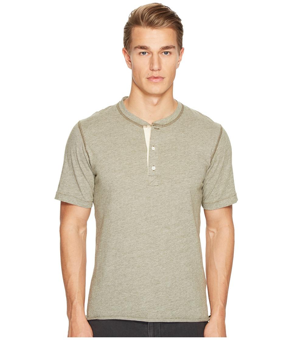 Billy Reid - Short Sleeve Hunter Henley (Moss) Men's Clothing