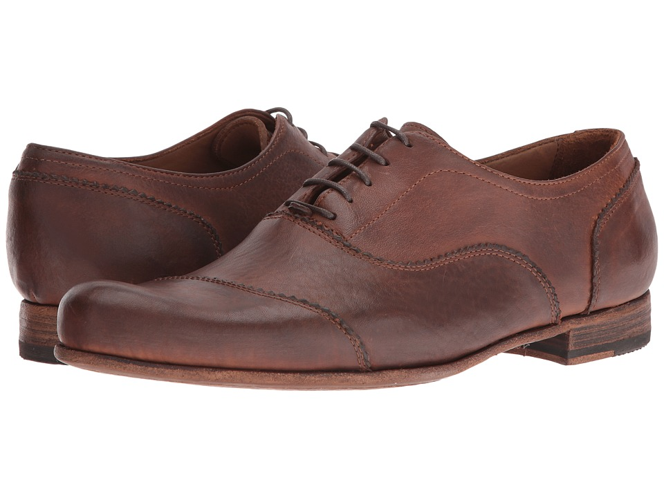 Billy Reid - Warner Cap Toe Oxford Shoe (Chestnut) Men's Lace Up Cap Toe Shoes