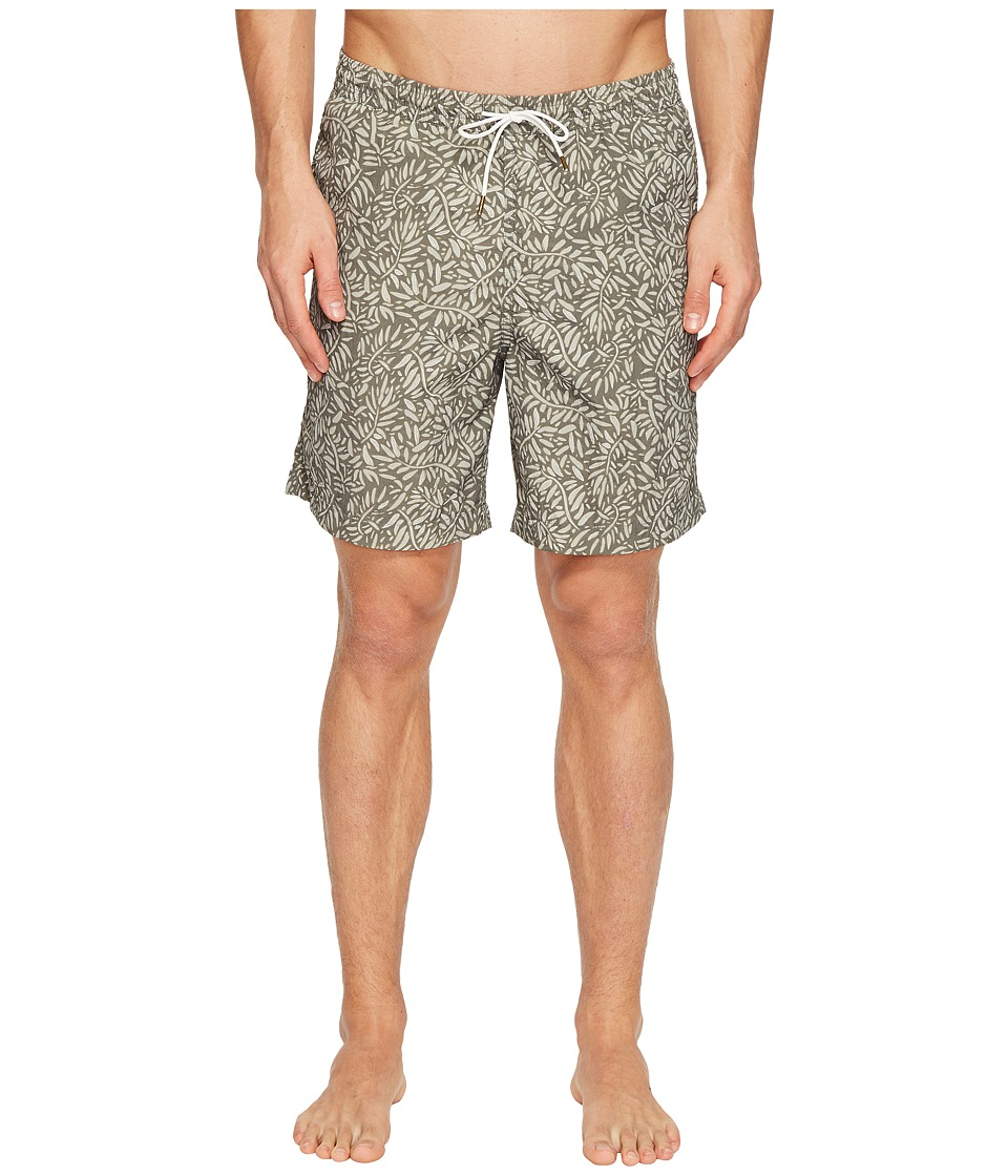 Image of Billy Reid - Anthony Swim Shorts (Basil) Men's Swimwear