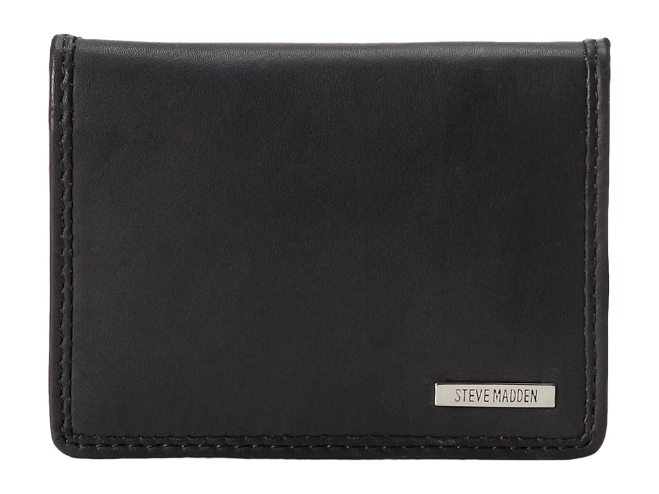 Steve Madden - Classic Leather Card Carrier (Black) Credit card Wallet