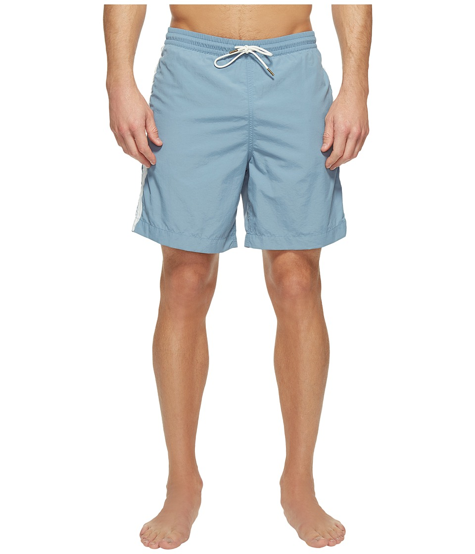 Billy Reid - Taped Swim Shorts (Sky Blue) Men's Swimwear