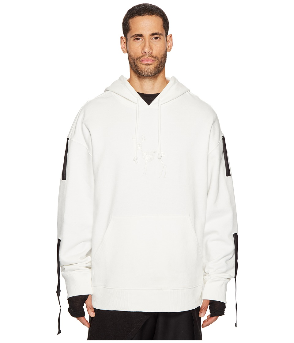 D.GNAK - Three Tapes Hoodie (White) Men's Sweatshirt