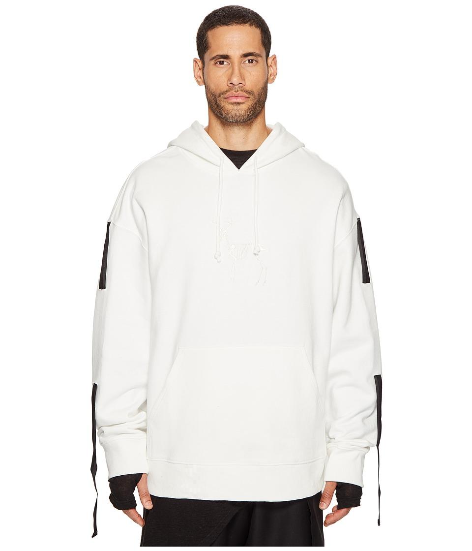 D.GNAK - Three Tapes Hoodie (White) Men's Sweatshirt